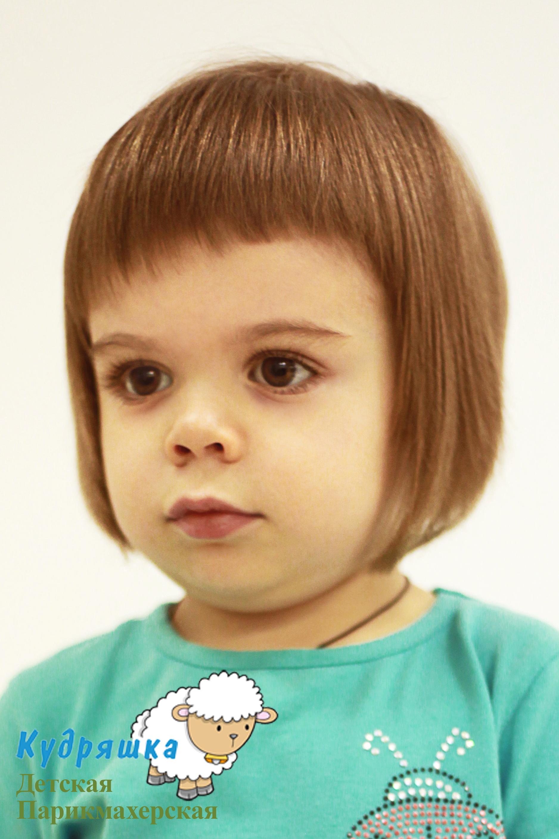 Стрижка ребенка 2 года девочке
